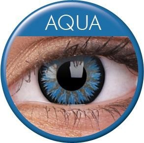Glamour Aqua coloured contact lenses