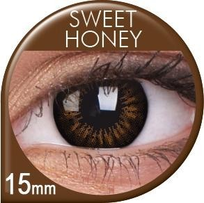 BigEyes Sweet Honey coloured contact lenses