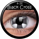 Black Cross Contact Lenses
