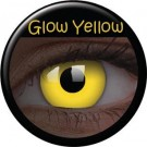 Glow Yellow Party Contact Lenses