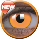 Orange Glow Party contact lenses